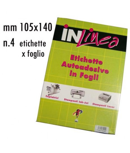 ETICHETTE INLINEA BIANCO MM105X140 100FF