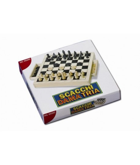 DAL NEGRO 53907 SCACCHI-DAMA-TRIA LEGNO