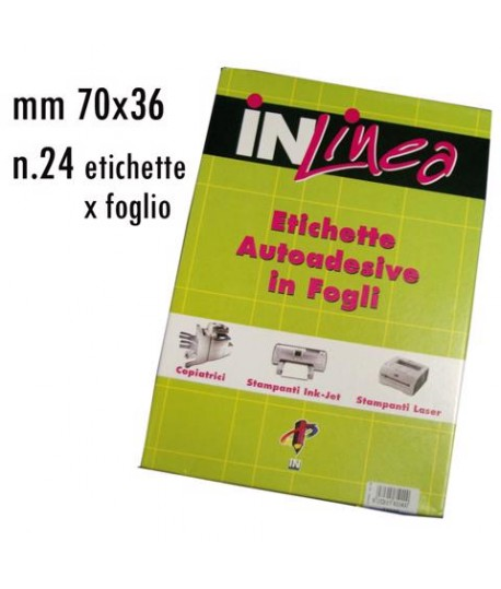 ETICHETTE INLINEA BIANCO MM70X36 100FF