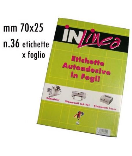 ETICHETTE INLINEA BIANCO MM70X25 100FF