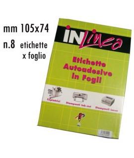 ETICHETTE INLINEA BIANCO MM105X74 100FF