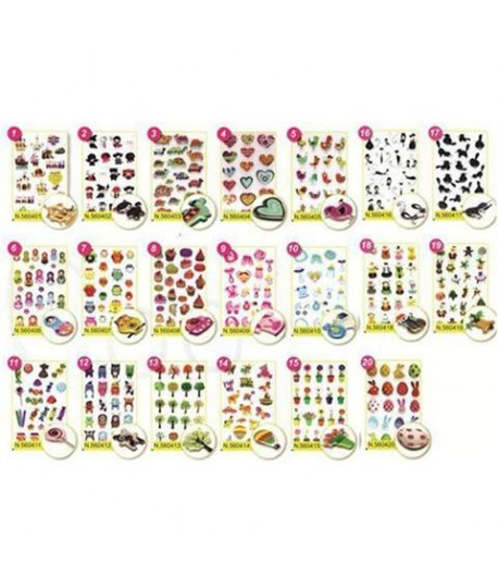 STICKERS MAILDOR 3D COOKY CM7,5X12