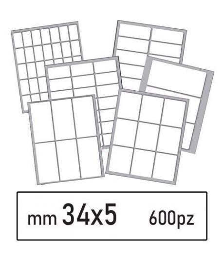 ETICHETTE BIANCHE 24 MM 34*5 600PZ