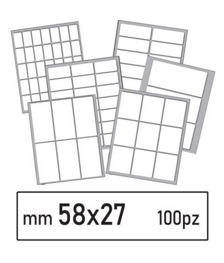 ETICHETTE BIANCHE 43 MM 58*27 100PZ
