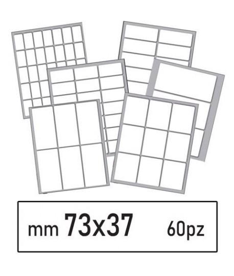ETICHETTE BIANCHE 48 MM 73*37 60PZ