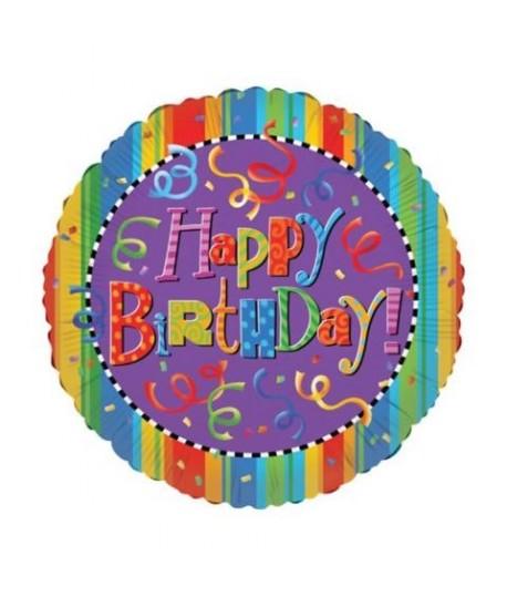 """MYLAR TONDO HAPPY BIRTHDAY 30"""" 17963-30"""