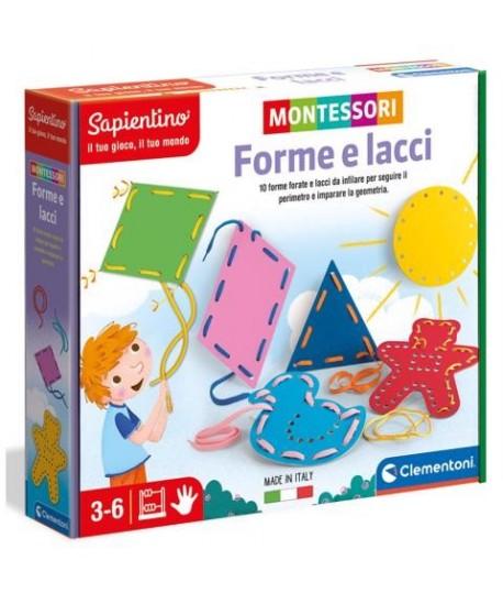 CLEMENTONI MONTESSORI 16363 FORME/LACCI