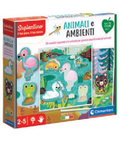 CLEMENTONI 16375 ANIMALI E AMBIENTI