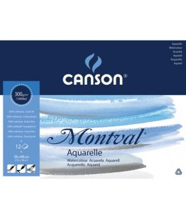 ALBUM ACQUERELLO MONTVAL 36X48 300G 12FF